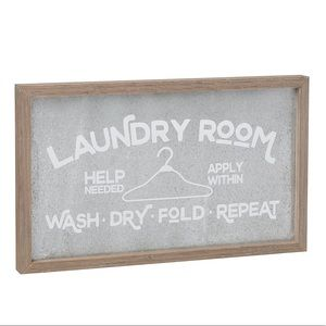 Other - Laundry Sign Wood & Metal Farmhouse Decor